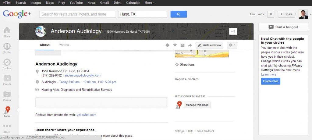 New Look for Google Plus Places Page March 6 2013